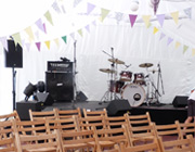 Marquee liners, dance floor, staging, bar service and setup